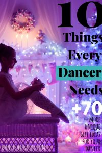 Awesome list of Gifts for Dancers! A must look at if you are having trouble thinking what to get! Love it! #dance #ballet #birthday #christmas #gift