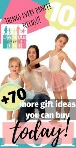 10 things every dancer needs and 70 more ideas - this is totally awesome - YOU MUST PIN IT to your gift board #dance #ballet #birthday #christmas #gift