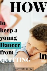 How to keep a young dancer from quitting. Three steps to help young dancers stay the course and finish the year out! Great advice with lost of examples and solutions. #balletlesson #dancelesson #motivation #parenting