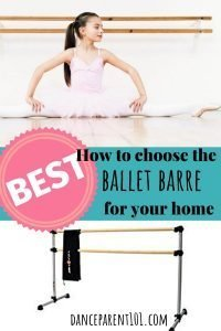 Must read article if you are buying a ballet barre for your home. It explains how to get the perfect height and the difference between a metal and wooden barre! #dance #ballet #barre #buyersguide