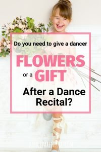 Do you need to give flowers or a gift after a dance recital? Especially for little kids - is it necessary? #Dance #Ballet #Flowers #Gifts
