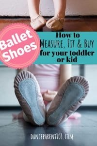 How to measure, fit and buy ballet shoes for toddlers & kids. This is an awesome guide with everything you need to know from the types of material ballet shoes come in, how to measure your child's foot and the different ways you can purchase ballet shoes! #balletshoes #ballet #dance #danceshoes