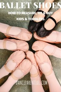 How to measure, fit and buy ballet shoes for toddlers & kids. This is an awesome guide with everything you need to know from the types of material ballet shoes come in, how to measure your child's foot about boys ballet shoes and more! #balletshoes #ballet #dance #danceshoes