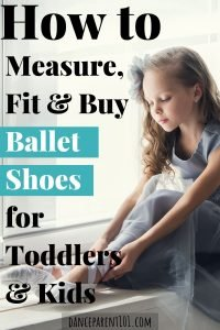How to measure, fit and buy ballet shoes for toddlers & kids. This is the ultimate guide with everything you need to know from the types of material ballet shoes come in, how to measure your child's foot and the different ways you can purchase ballet shoes! #balletshoes #ballet #dance #danceshoes