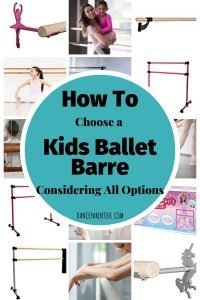 Great post with links if you are buying a ballet barre for your home. It explains how to get the perfect height and the difference between a metal and wooden barre as well as portable and wall options! #dance #ballet #barre #buyersguide