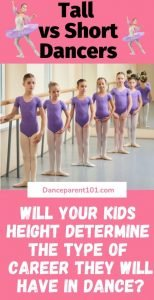 Tall dancers Vs Short Dancers. Which is better? Is there a best height in dance? We have all the answers in our post! #dance #ballet #tallvsshort #danceparent