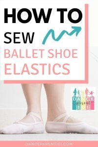 How to sew elastics on to flat ballet shoes- Criss cross or single elastics. Today many dance shoes come with elastics pre-attached so which should you choose? Single or Criss cross elastics. Choosing which ankle straps to use for your child, kids, toddlers or teens ballet slippers is important and we outline the benefits of both and have photos and instructions on how to sew the elastics onto flat ballet shoes and slippers.
